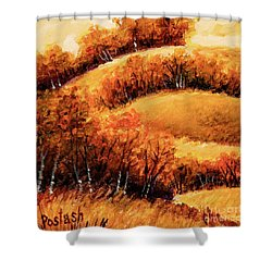 Shower Curtain featuring the painting Fall by Igor Postash