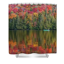 Fall In A Canoe Shower Curtain