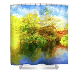 Shower Curtain featuring the photograph Fall In Central Park by Jim  Hatch