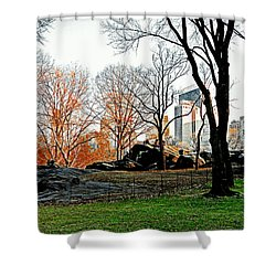 Fall In Central Park Shower Curtain