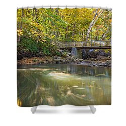 Shower Curtain featuring the photograph Fall In Motion by Steven Santamour