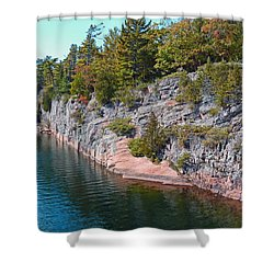 Fall In Muskoka Shower Curtain by Claire Bull