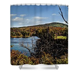Fall In New Hampshire Shower Curtain by Deborah Klubertanz