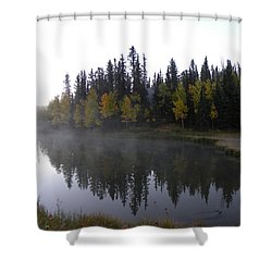 Kiddie Pond Fall Colors Divide Co Shower Curtain