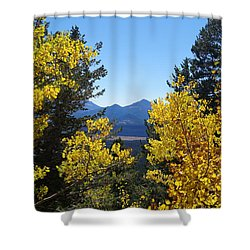 Shower Curtain featuring the photograph Fall In The Rockies by Broderick Delaney