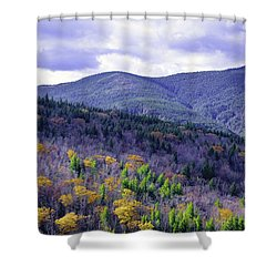 Fall In The White Mountains Shower Curtain