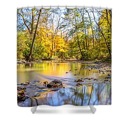 Shower Curtain featuring the photograph Fall In Wisconsin by Steven Santamour