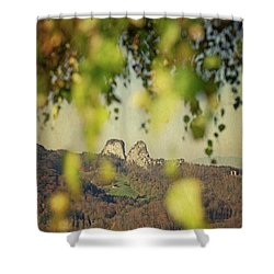 Fall-ing Leaves Shower Curtain