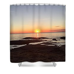 Fall Lake Superior Sunset Shower Curtain