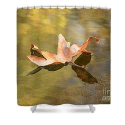 Fall Leaf Floating Shower Curtain