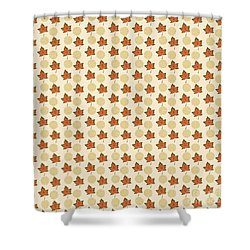 Fall Leaves Light Pattern Shower Curtain