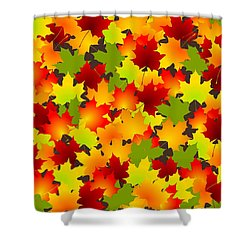 Fall Leaves Quilt Shower Curtain by Anastasiya Malakhova