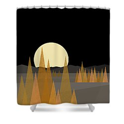 Fall Moon - Vertical Shower Curtain