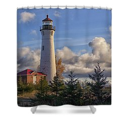 Fall Morning At Crisp Point Shower Curtain