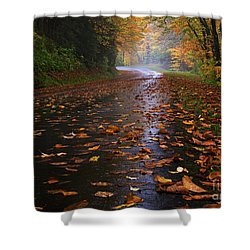 Fall Morning, Great Smoky Mountains National Park Shower Curtain