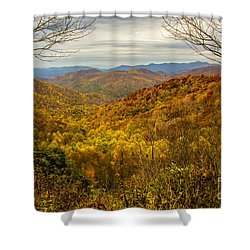 Fall Mountain Overlook Shower Curtain