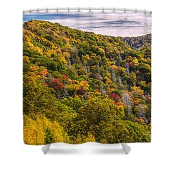 Shower Curtain featuring the photograph Fall Mountain Side by Tyson Smith