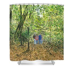 Fall Nymphs - IIi Shower Curtain by Joel Deutsch