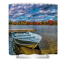 Shower Curtain featuring the photograph Fall On Alloway Lake by Nick Zelinsky