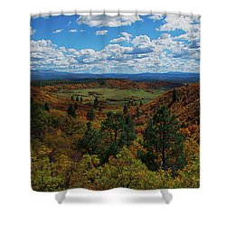 Fall On Four Mile Road Shower Curtain by Jason Coward