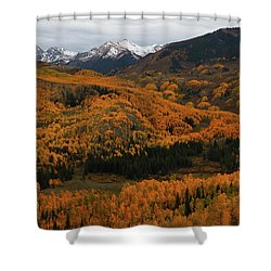 Fall On Full Display At Capitol Creek In Colorado Shower Curtain