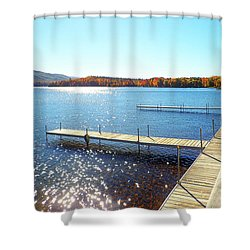 Fall On Lake Dunmore Shower Curtain