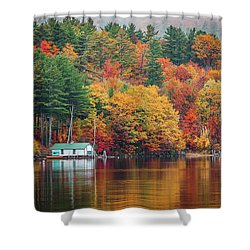 Fall On Lake Winnipesaukee Shower Curtain