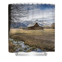 Shower Curtain featuring the photograph Fall On Mormon Row - Grand Teton National Park by Sandra Bronstein