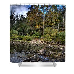 Shower Curtain featuring the photograph Fall On The Hailstone by Michael Dougherty