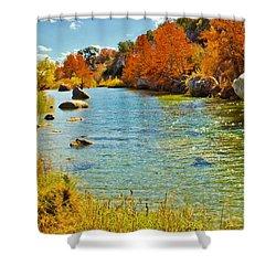 Fall On The Medina River Shower Curtain
