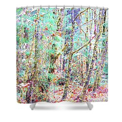 Fall Oregon Forest Shower Curtain