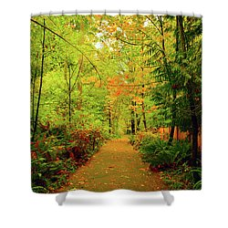Fall Path Too Shower Curtain
