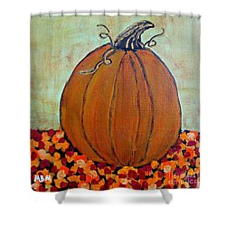 Fall Pumpkin Shower Curtain