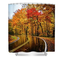Fall Rain Shower Curtain