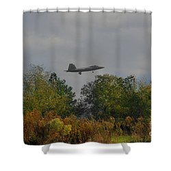 Fall Raptor Shower Curtain