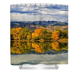 Fall Reflection Shower Curtain by Juli Ellen