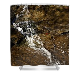 Shower Curtain featuring the photograph Fall Runoff At Broadwater Falls by Michael Dougherty