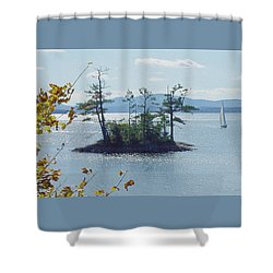 Fall Sailing Shower Curtain