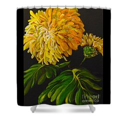Shower Curtain featuring the painting Fall by Saundra Johnson