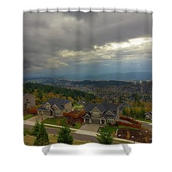 Fall Season In Happy Valley Oregon Shower Curtain by David Gn