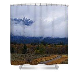 Fall Season's Last Stand Shower Curtain