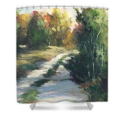 Fall Shadows Shower Curtain