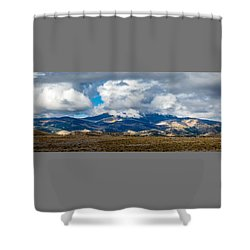 Fall Storm Clearing Off Pintada Mountain Shower Curtain