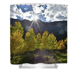 Fall Sun Setting Over Mt. Charleston Shower Curtain