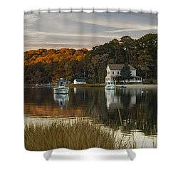 Fall Sunset In Centerport  Shower Curtain