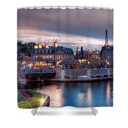 Fall Sunset Of France Shower Curtain