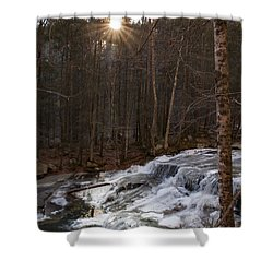 Fall Sunset On Stream Shower Curtain