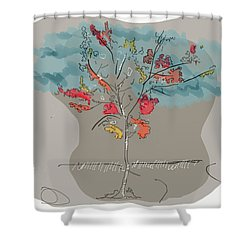 Fall To Peaces Shower Curtain