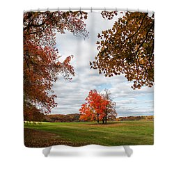 Fall Trees At Oatlands Shower Curtain