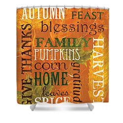 Fall Typography 1 Shower Curtain